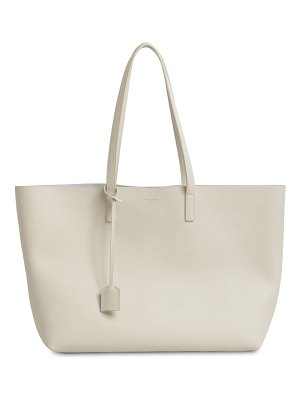 Saint Laurent Ysl smooth leather shopping bag