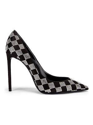 Saint Laurent zoe checkered satin pumps