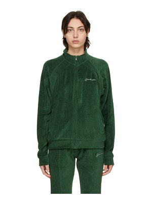 SAINTWOODS velour zip track jacket