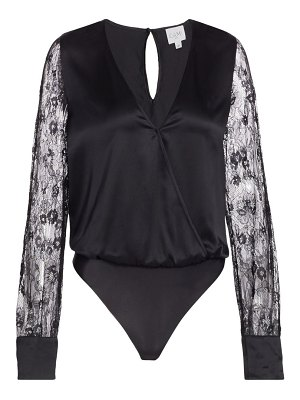 CAMI NYC bette silk lace-sleeve bodysuit