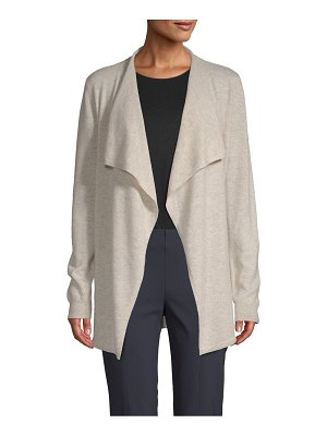 Cashmere Saks Fifth Avenue Waterfall Cashmere Cardigan