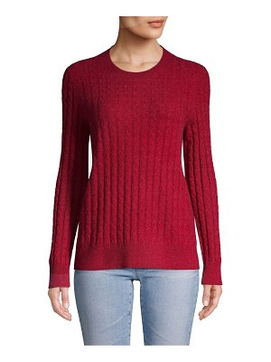 Cashmere Saks Fifth Avenue Cable-Knit Cashmere Sweater