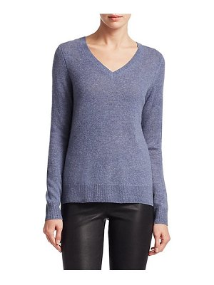 Saks Fifth Avenue collection featherweight cashmere v-neck sweater