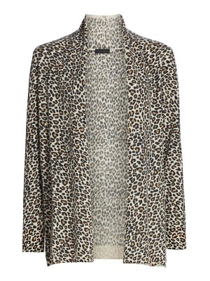 Saks Fifth Avenue collection animal-print cashmere cardigan