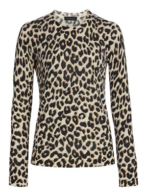 Saks Fifth Avenue collection animal-print cashmere top