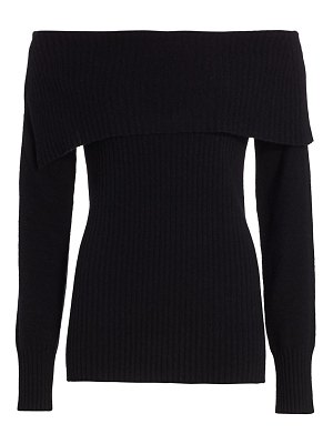 Saks Fifth Avenue collection off-the-shoulder cashmere sweater