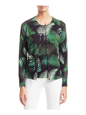 Saks Fifth Avenue collection palm leaves cashmere cardigan