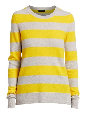 Saks Fifth Avenue collection striped cashmere pullover