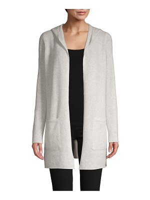 Cashmere Saks Fifth Avenue Hooded Cashmere Cardigan