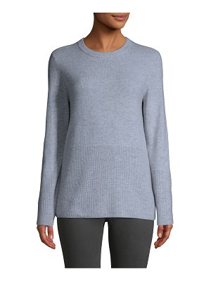 Cashmere Saks Fifth Avenue Ribbed Cashmere Pullover
