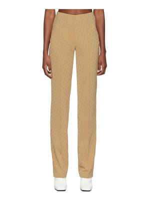 SAKS POTTS beige lissi trousers