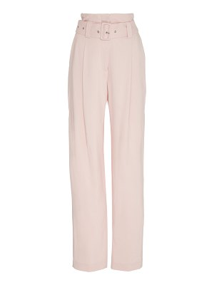 Sally Lapointe belted stretch-crepe pants