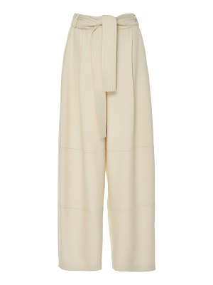 Sally Lapointe belted twill wide-leg pants size: 0