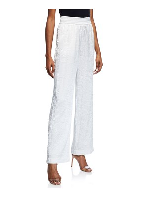Sally Lapointe Crinkled Wide-Leg Pants