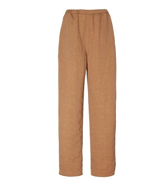 Sally Lapointe linen lyocell elastic tapered pant