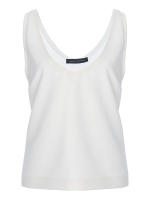 Sally Lapointe matte crepe scoop neck tank top size: 4