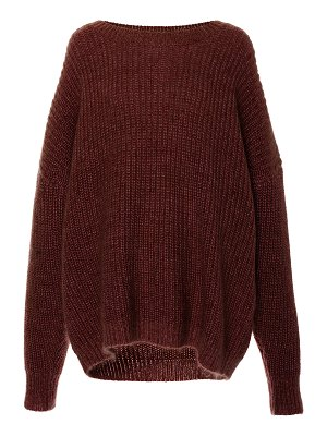 Sally Lapointe oversized hi-low mohair-blend sweater size: m/l