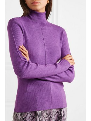 Sally Lapointe ribbed cashmere and silk-blend turtleneck sweater