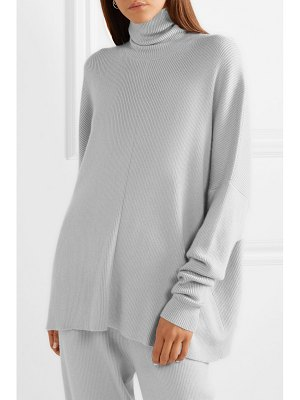 Sally Lapointe ribbed cashmere-blend turtleneck sweater