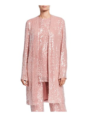 Sally Lapointe Sequined Jersey Duster Jacket