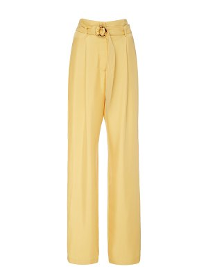 Sally Lapointe belted silk straight-leg pants size: 2