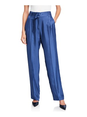 Sally Lapointe Silky Twill Pintucked Pants