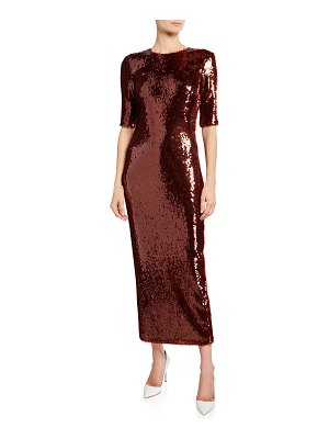 Sally Lapointe Stretch Sequined Dress