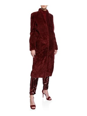 Sally Lapointe Tailored Shearling Coat