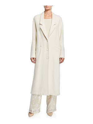 Sally Lapointe Wool-Boucle Drop-Collar Coat