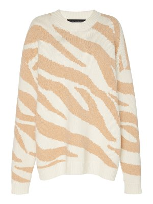 Sally Lapointe zebra intarsia-knit wool and cashmere-blend sweater