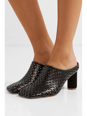salondeju rond perforated leather mules