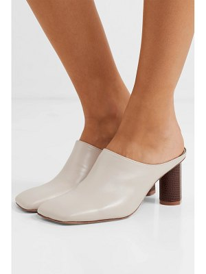salondeju rond two-tone leather mules
