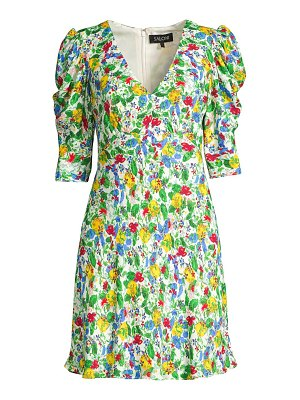 Saloni colette floral mini dress