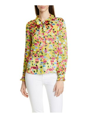 Saloni emile polka dot fil coupe top