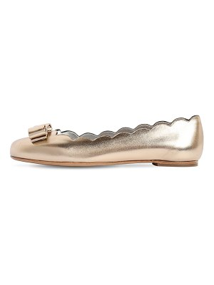 Salvatore Ferragamo 10mm varina shell metallic leather flats