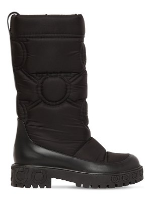 Salvatore Ferragamo 30mm ashley quilted nylon snow boots