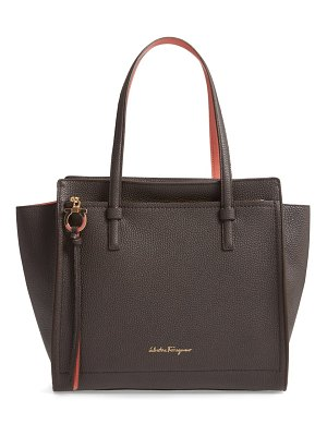Salvatore Ferragamo amy double handle leather bag