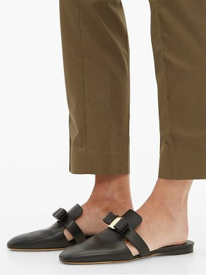 Salvatore Ferragamo briza backless leather loafers