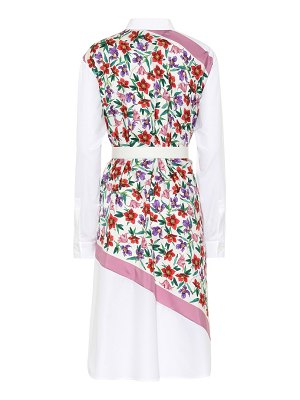 Salvatore Ferragamo Cotton and silk printed dress