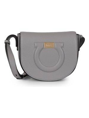 Salvatore Ferragamo gancio city leather saddle bag