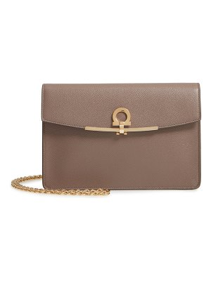 Salvatore Ferragamo gancio clip leather clutch