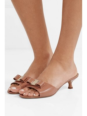 Salvatore Ferragamo ginostra bow-embellished patent-leather mules
