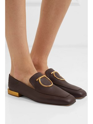 Salvatore Ferragamo lana embellished leather collapsible-heel loafers