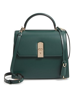Salvatore Ferragamo large box calfskin satchel