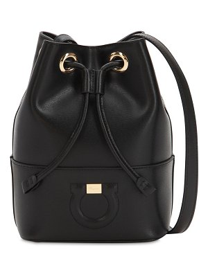 Salvatore Ferragamo Leather bucket shoulder bag