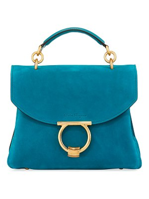 Salvatore Ferragamo Margot Small Suede Satchel Bag