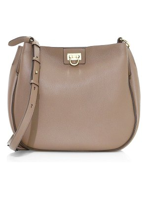 Salvatore Ferragamo medium reverse leather hobo bag