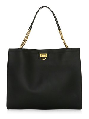 Salvatore Ferragamo medium gancini leather tote