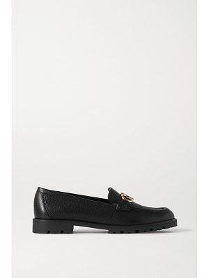 Salvatore Ferragamo rolo embellished textured-leather loafers