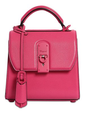 Salvatore Ferragamo Small boxy leather shoulder bag